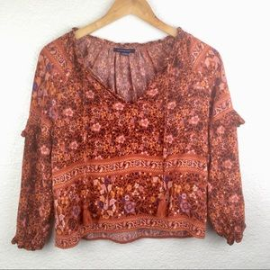 American eagle boho long sleeve top size XS